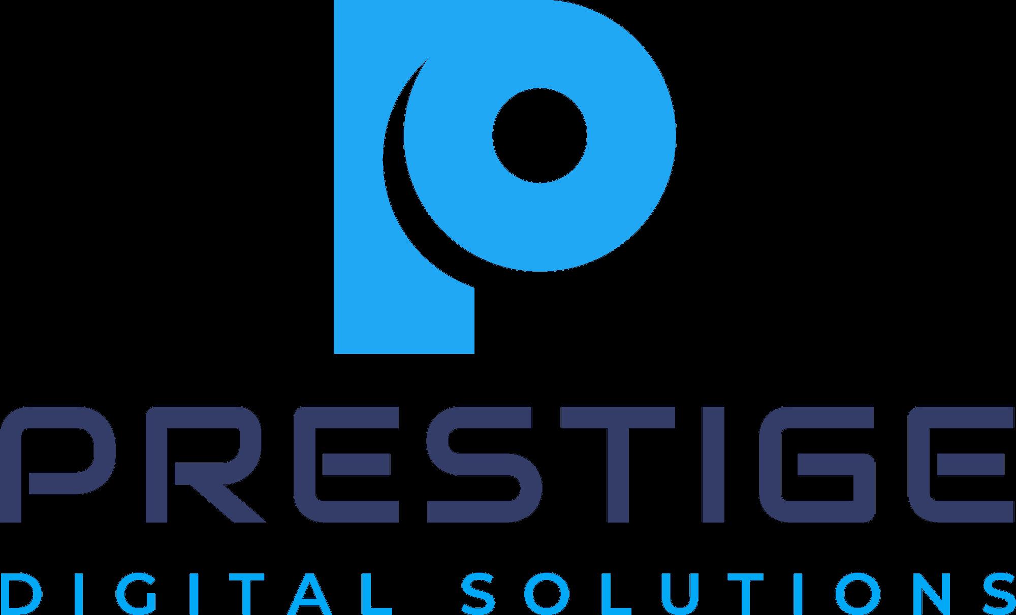 Prestige Digital Solutions Logo blue original